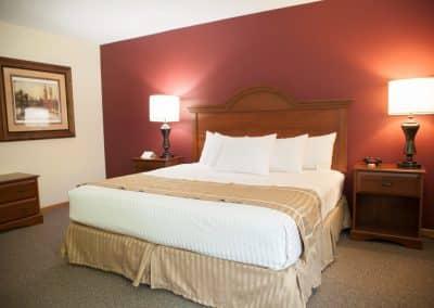Bed in Harrington room