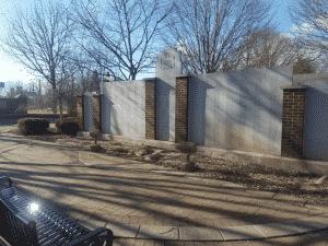 Veteran's Memorial Park Memorial Wall