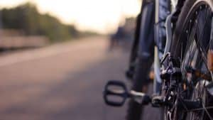 Close up of bike on a road