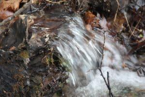 water rushing down stream