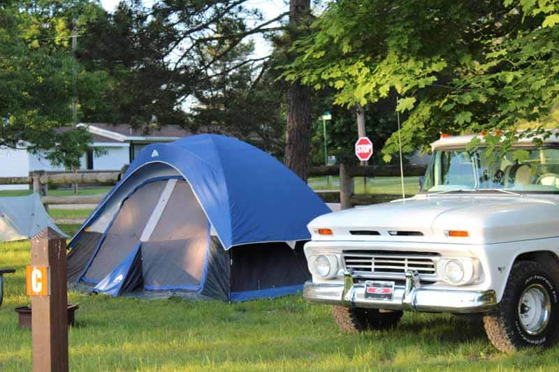 Camping at White Cloud Park