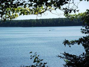 Boat on lake in Newaygo