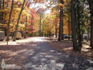 Croton Campground in fall