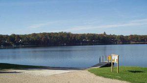 Diamond Lake view with dock