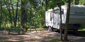 White cloud camper