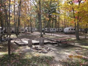 Big Bend campground in autumn