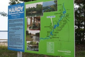 Hardy Hydroelectric plant sign
