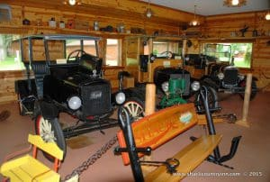 Antique cars at museum