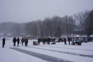 D2D participants on ice