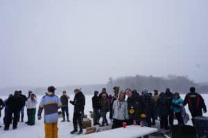 D2D participants on frozen lake