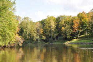 Lake photo in autumn