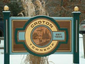 Croton Township Sign