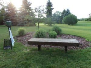 Summer Breeze bench at tee box