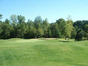 Village green golf course fairway