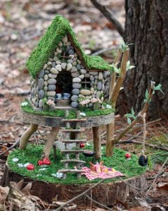 Fairy house in forest