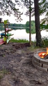 Fire by the Lake
