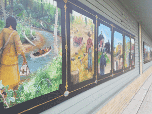 Newaygo History Paintings in Museum
