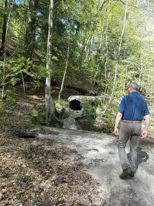 Man trail hiking