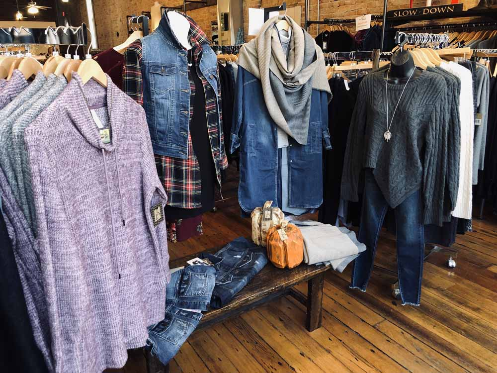 Clothing displayed in store
