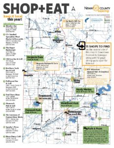Foodie & Shopping Tour Map page 1