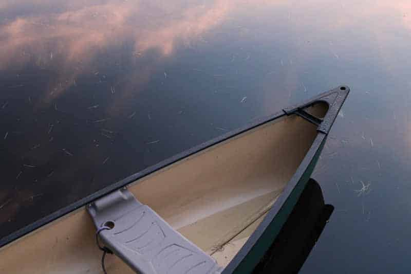 canoe floating on water