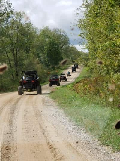 ATVs on trail