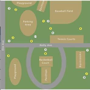 Conklin Disc Golf Map
